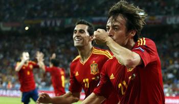 決勝戦スペイン対イタリア