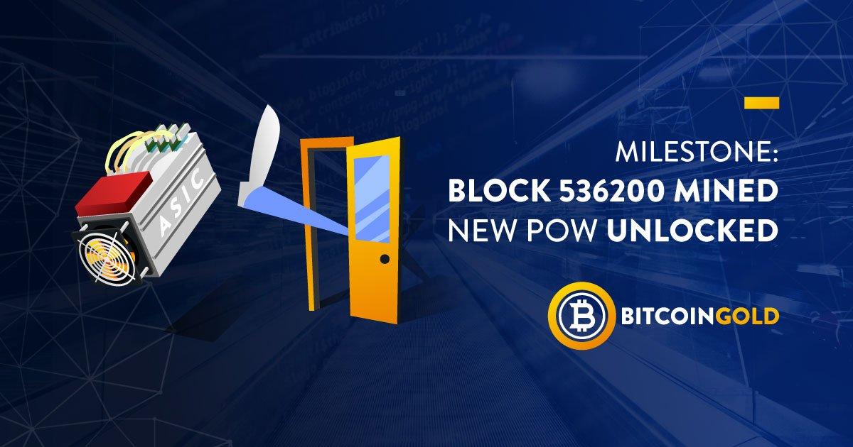 Bitcoin gold btg novo hard fork depois de ataque de 51 na rede a 3 de julho de 2018 no bloco de nmero 536200 a rede bitcoin gold foi transferida para um algoritmo equihash btg modificado no suportado por ccuart Choice Image