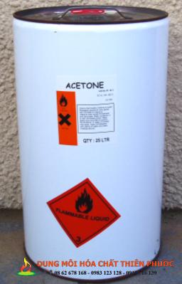 Dung môi Acetone - Dung môi hóa chất thiên phước phân phối sản phẩm này chất l