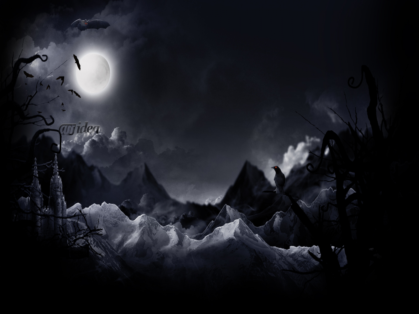 halloween moon wallpaper - photo #6