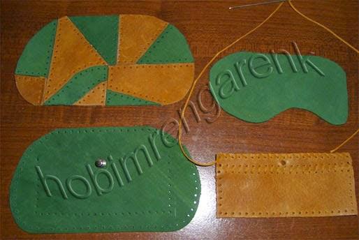patchwork pattern wallet