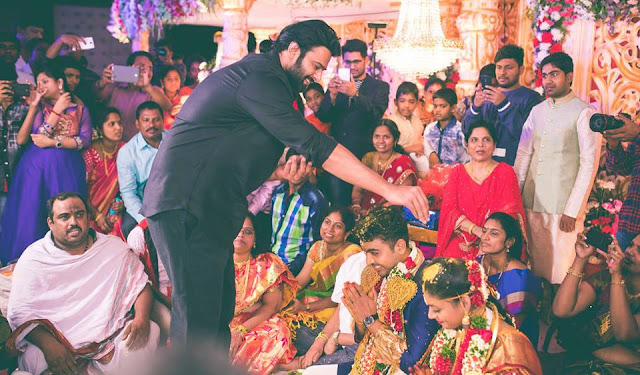 Prabhas at director radha krishna kumar wedding
