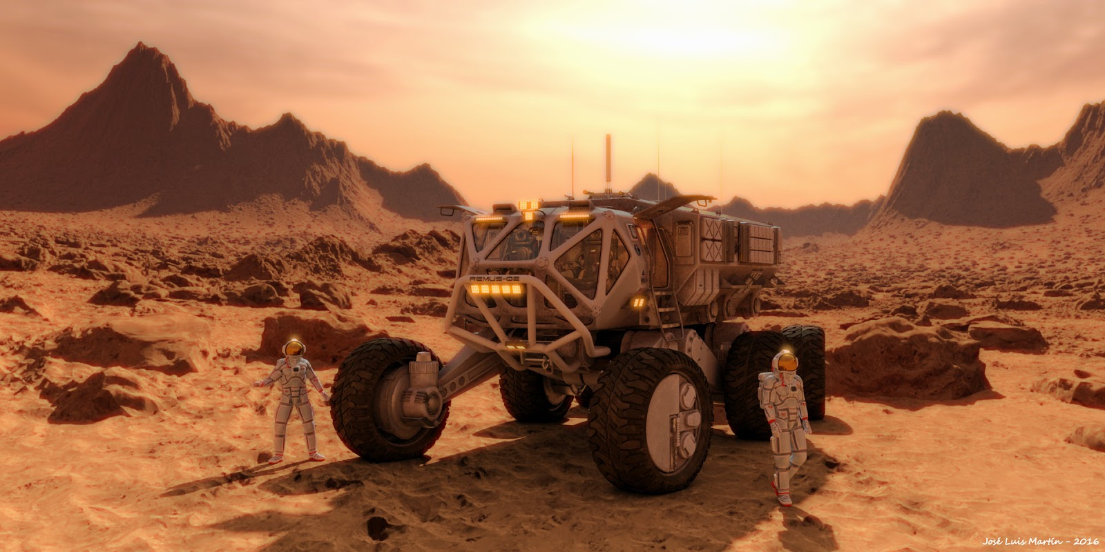 Mars exploration rover by José Luis Martín for Science Today Magazine