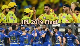 Mumbai Indians vs Chennai Super Kings final 2019 Match Head to Head in Hyderabad