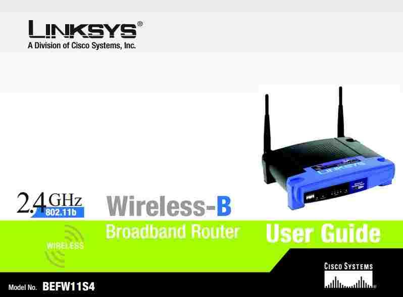 Linksys BEFW11S4 User Manual | Manual PDF