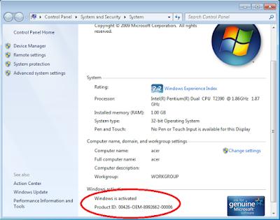 Cara Menghapus Aktivasi Windows 7