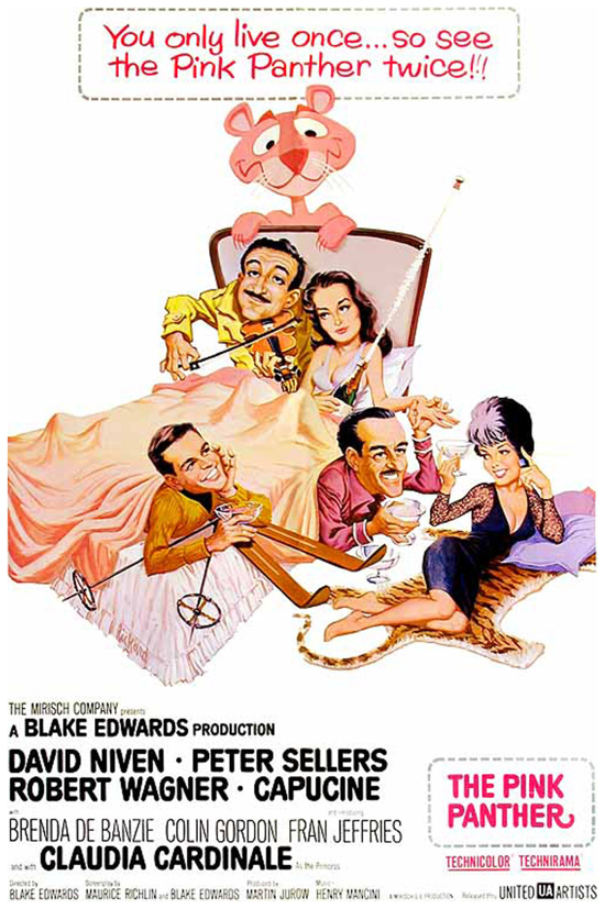 The Pink Panther 1963 theatrical poster
