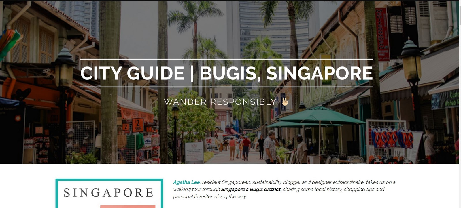 Wander Responsibly in Singapore