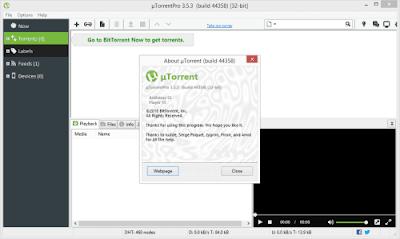 Screenshot uTorrent Pro 3.5.3 Build 44358 Full Version