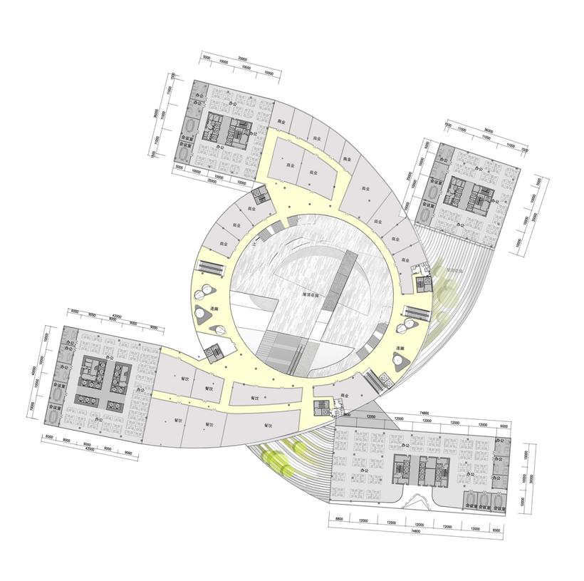 Second floor plan of Impressive Fangda Business Headquarters