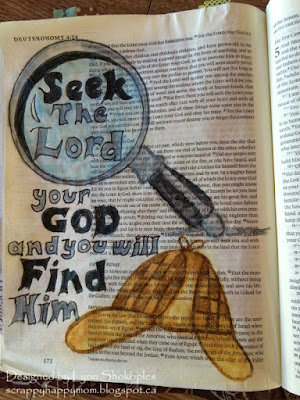 Deuteronomy Bible Journal Page by Lynn Shokoples