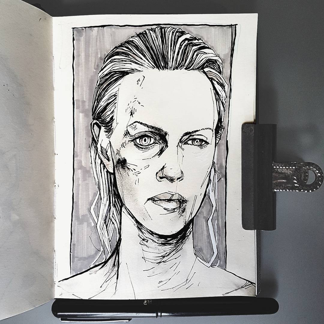 Charlize Theron Atomic Blonde illustration