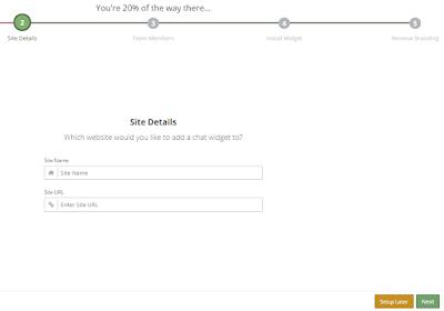 input your site details