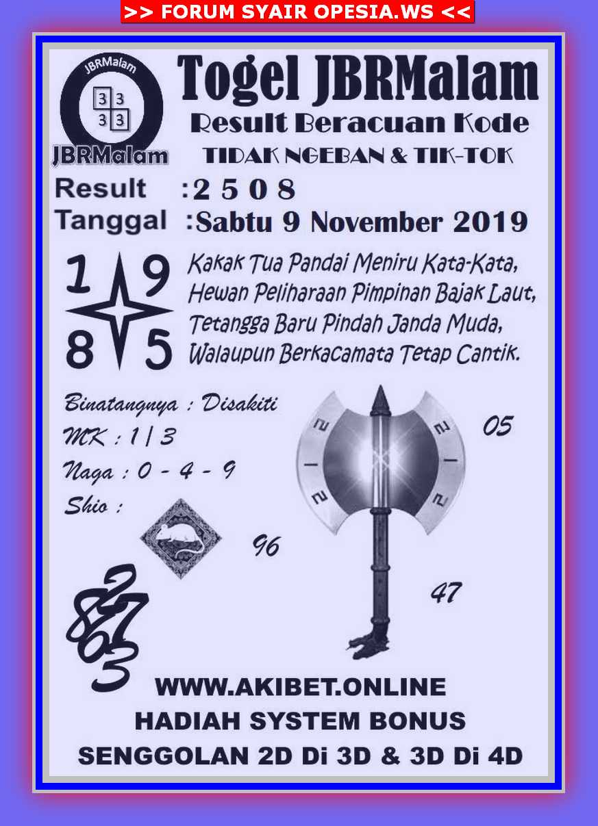 Kode syair Singapore Sabtu 9 November 2019 71