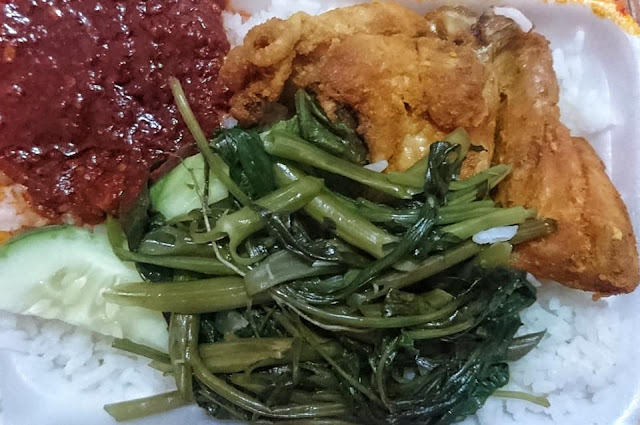 NASI LEMAK BUNGKUS WITH SPICY SAMBAL