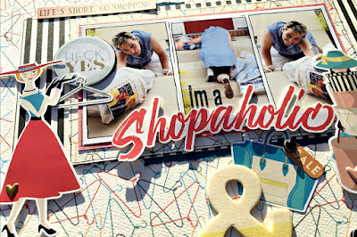 shopaholic scrapbook page tracee provis authentique metropolitan girl papermaze 02