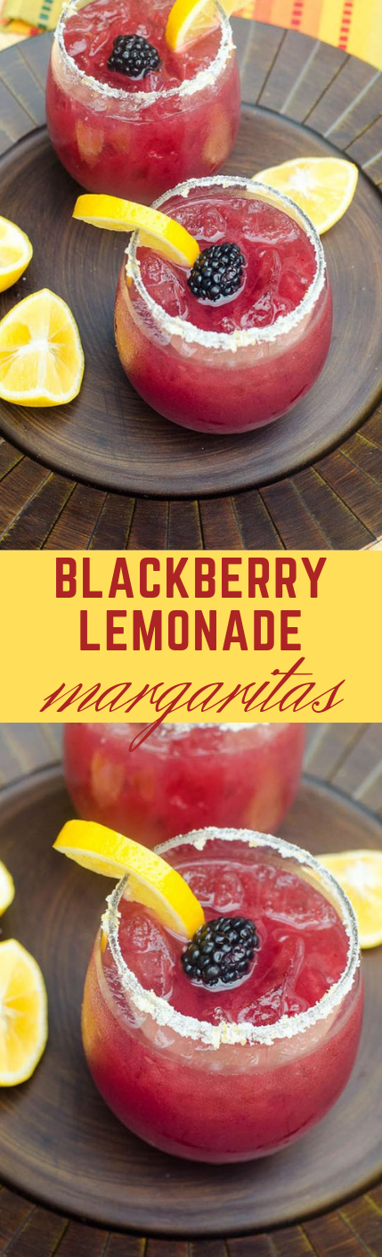BLACKBERRY LEMONADE MARGARITAS #lemonade #drink