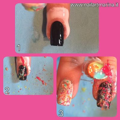 Tutorial unghie bellissime fatte con la cannuccia suddivisa in 4 per creare un effetto molto particolare e facile da fare!