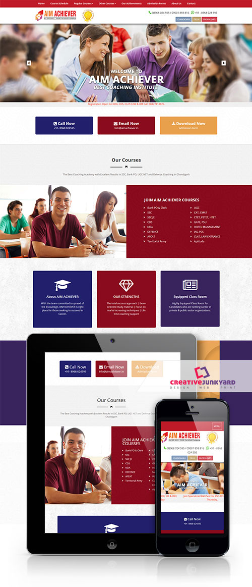 Educational Website Design