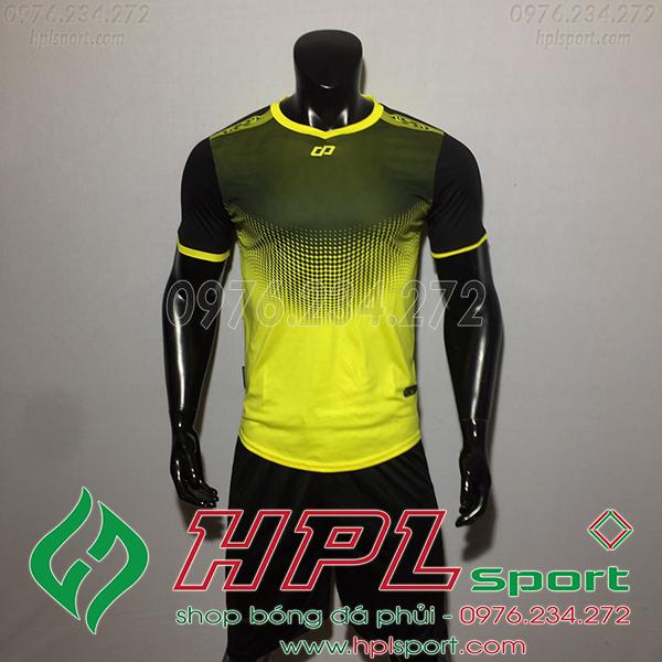Áo bóng đá không logo CP Hnet màu vàng