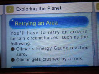 Hey! Pikmin instruction manual exploring the planet retrying an area Captain Olimar crushed by a rock