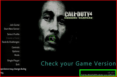 Check your game version COD 4 MW