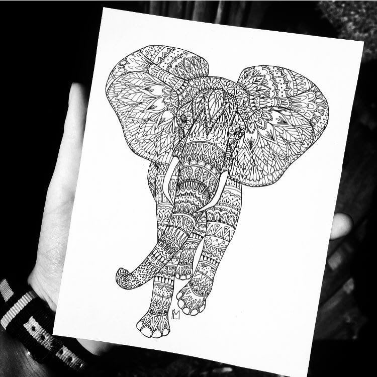12-Elephant-Mandala-Pattern-Maartje-Ink-Drawings-Mostly-Enclosed-www-designstack-co