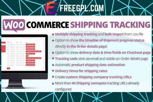 WooCommerce Shipping Tracking Free Download