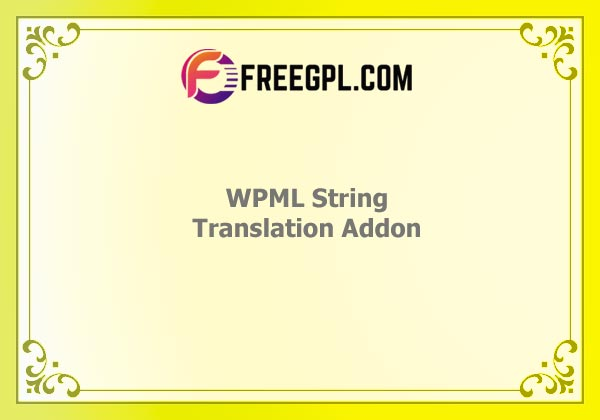 WPML String Translation Addon Nulled Download Free
