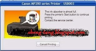 Cara Reset Printer Canon MP 287 Eror E08