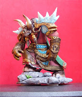modellini fantasy action figure sciamano tauren world of warcraft modellino videogames orme magiche