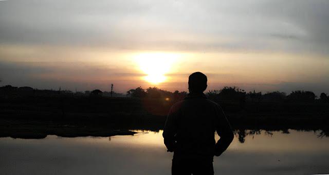 Mentari Berufuk di Langit Nganjuk