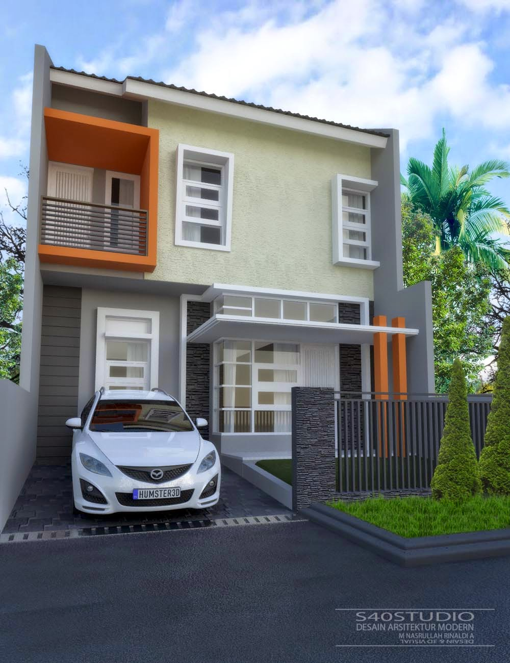 Rumah Minimalis Beserta Denahnya Terbaru Denah Rumah 40 Meter
