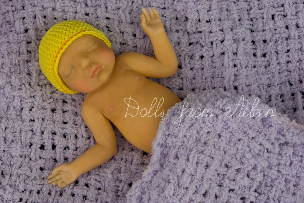 ooak anatomically correct sleeping baby boy doll
