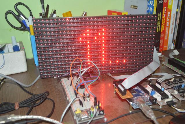 Demo Arduino P10 Fans Electronics