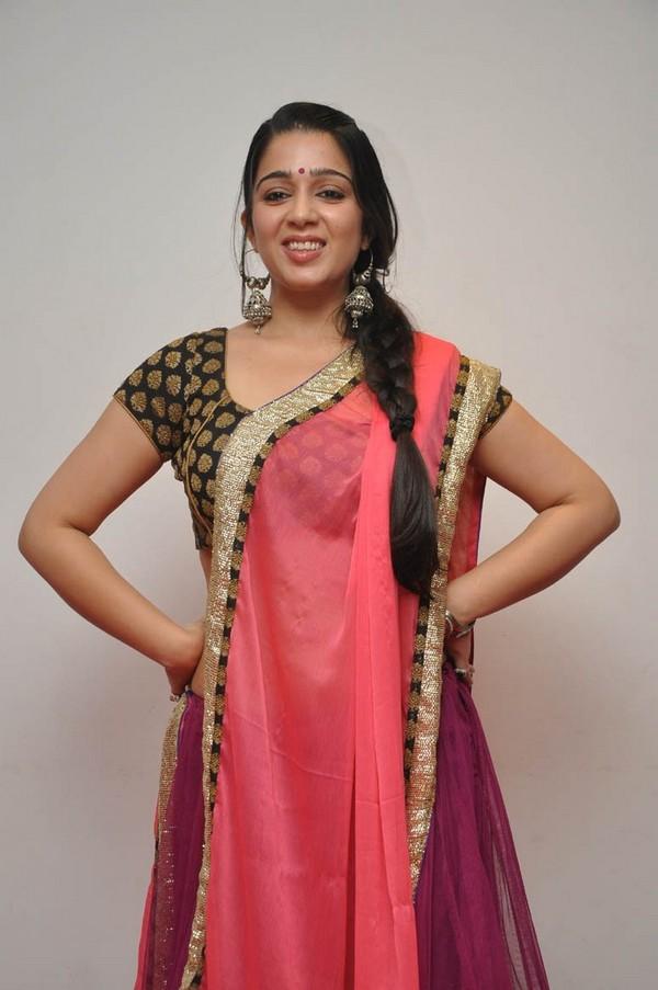 Charmi Latest Hot Navel Show Stills In Saree - Hot Blog Photos-1284