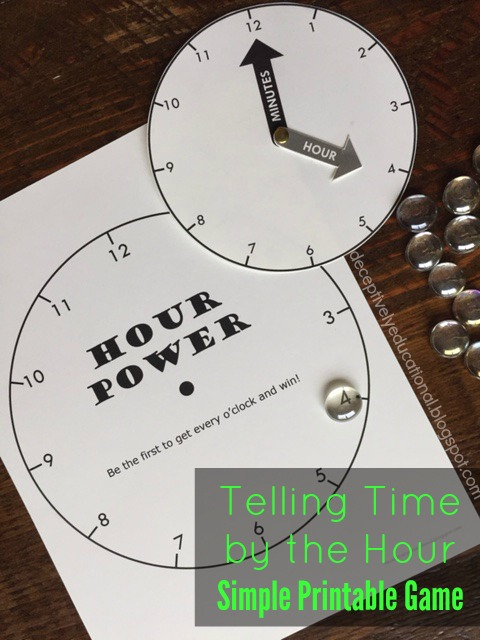 image relating to Telling Time Printable Game identified as Relentlessly Pleasurable, Deceptively Instructive: Telling Period as a result of