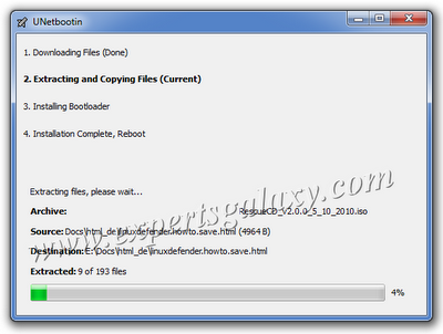 Bootable USB Copying Files