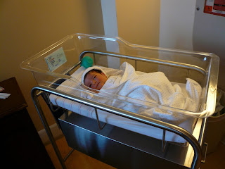 Theodore in his hospital bassinet