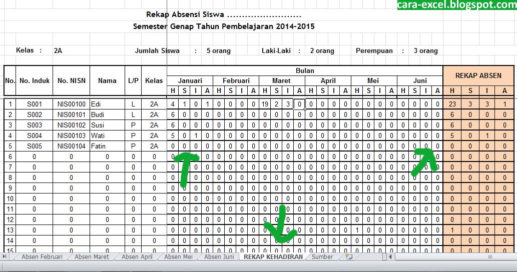 Cara Membuat Absensi di Excel - Cara-Excel