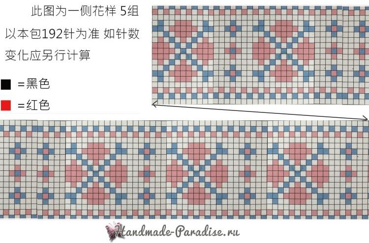 Летняя сумка крючком из полиэтиленовой пряжи (4)