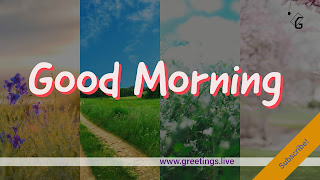 Free YouTube channel art with good morning wishes