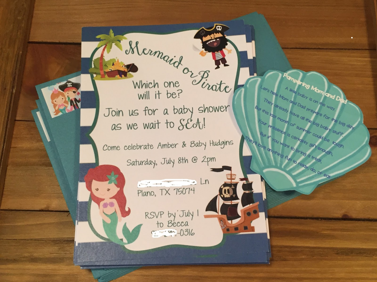 Christy Mermaid Or Pirate Baby Shower