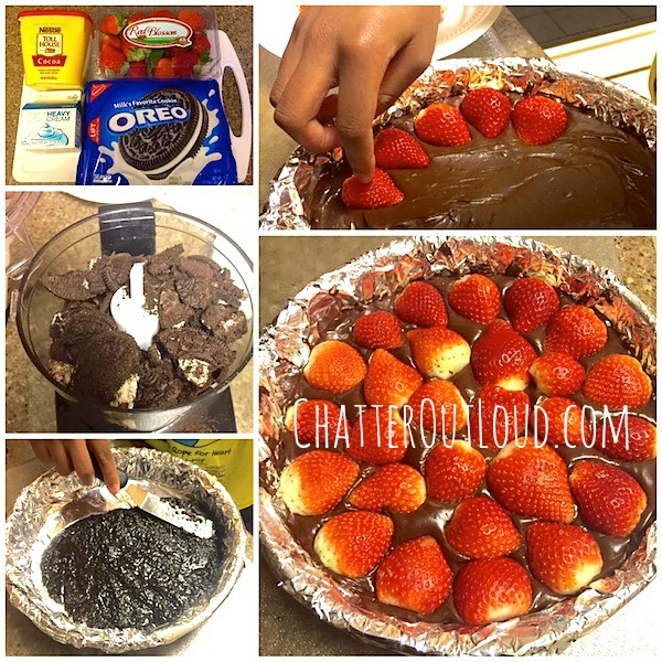 No-Bake-Strawberry-Chocolate-Tart-Collage