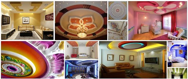 20 Colorful Gypsum Designs For Distinctive Ceilings