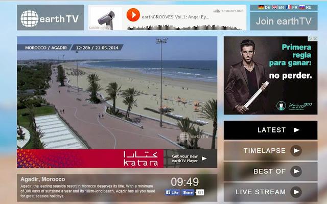 موقع earthtv لمشاهدة مدن حول العالم في بث مباشر