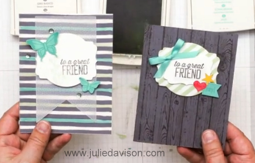 Stampin' Up! Sale-a-bration Papers Coloring Techniques VIDEO Tutorial #stampinup #saleabration
