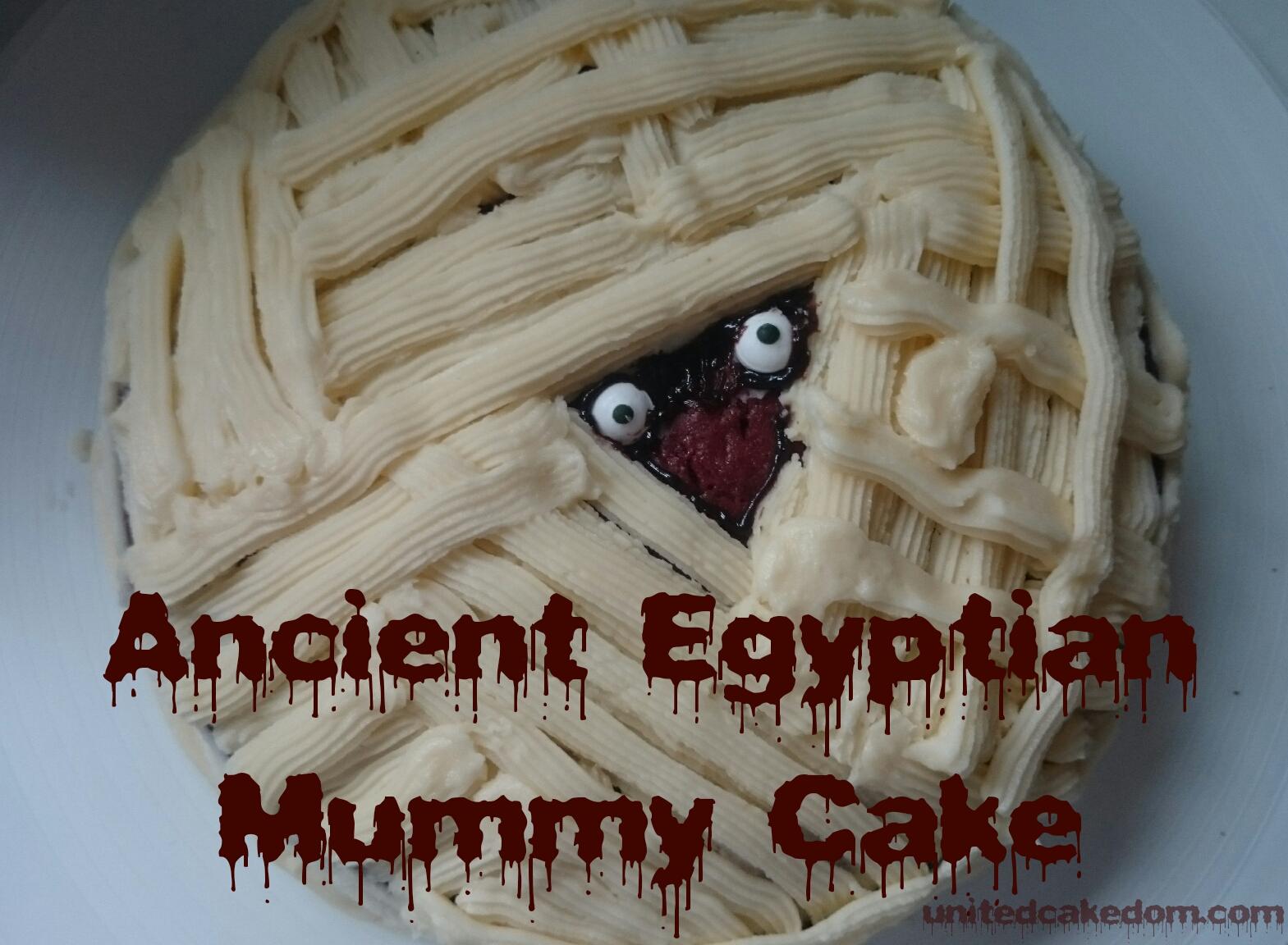 Enjoyable United Cakedom Red Velvet Ancient Egyptian Mummy Cake Halloween Funny Birthday Cards Online Necthendildamsfinfo