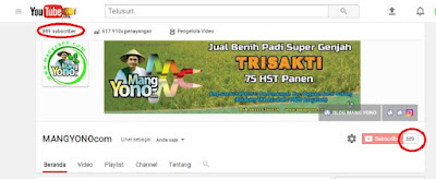 Subscriber Channel MANGYONOcom makin bertambah