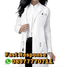 Blazer Putih  Dokter dan Perawat Wanita Di Bandung   Blazer Dokter dan Para Medis